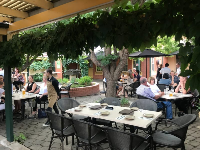Relaxing outdoor eating