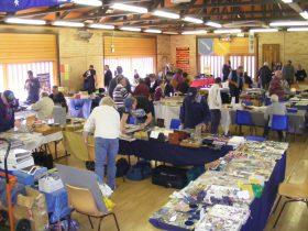 Trading at May Stamp & Coin fair