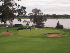 Overlooking Lake Albert at the Wagga Wagga Country Club