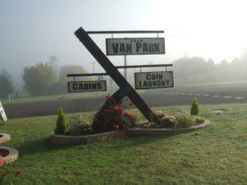 Walcha Caravan Park entrance