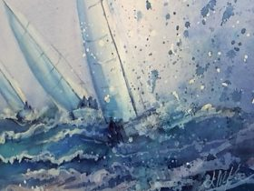 Join Lyndall McKee and unwind while learning water colour.