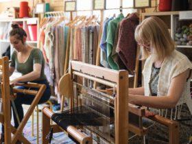 Jess & Fiona weaving