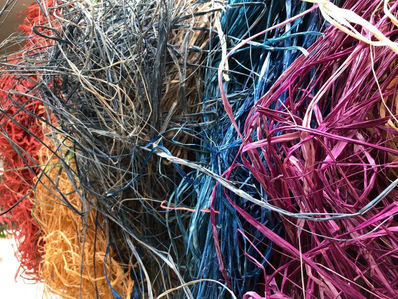 weaving basketry string bag succulent wreath random weave