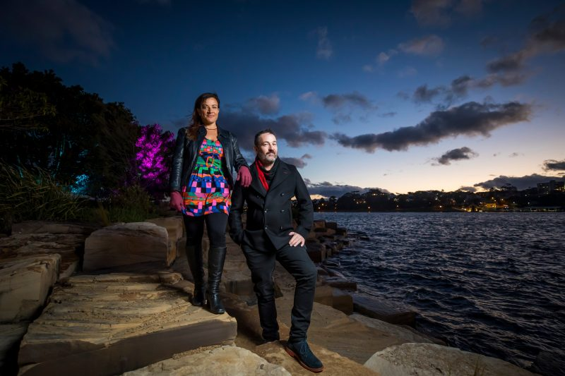 Wellama artists Alison Page and Nik Lachajczak at Barangaroo Reserve