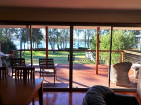Lake views from lounge room