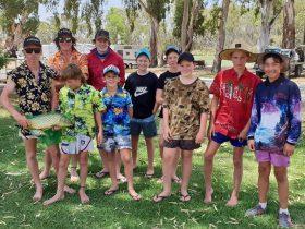 Junior entrants of the wenty fishing comp