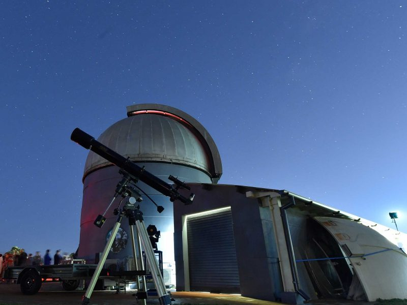 Nightime image of the onservatory