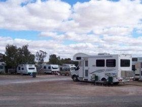 Caravan Park with vans
