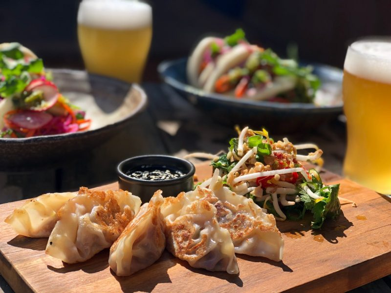 Delicious dumplings and food