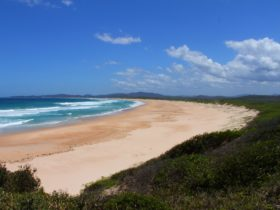 It's a big beach that stretches around from Wilsons to Wooli.