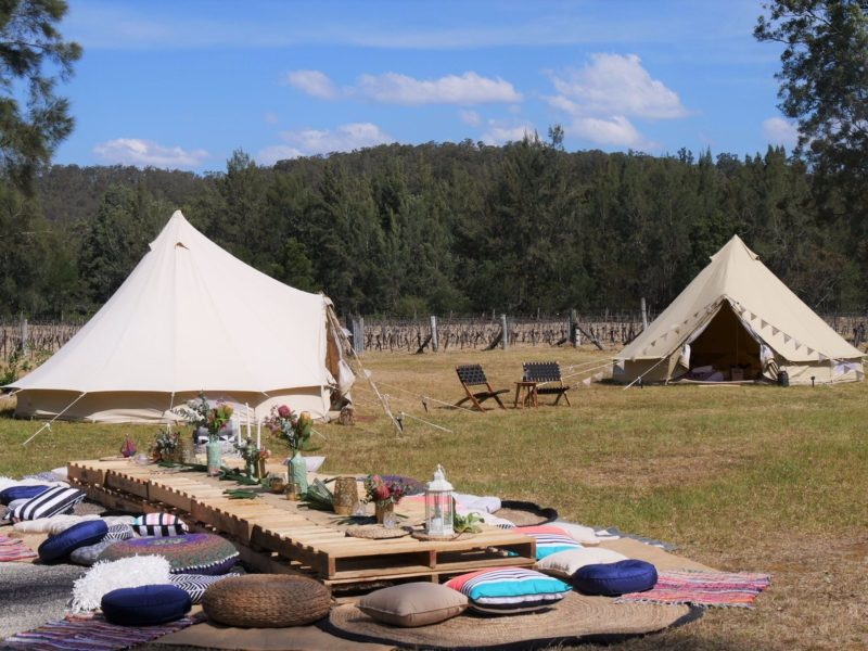 Glamping at Wollombi wines