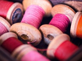 Photos of spools of cotton