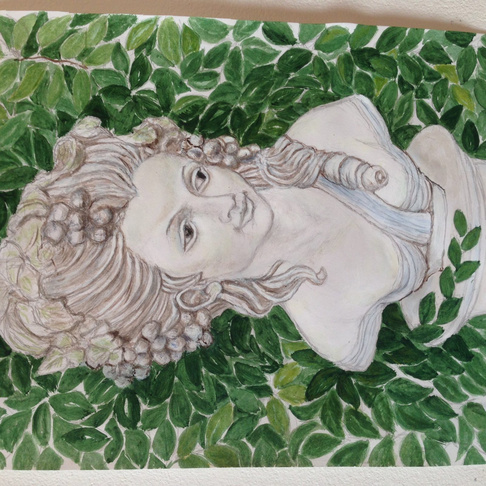 Head of a woman watercolour