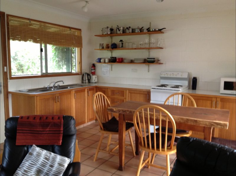 The Retreat - Kitchen and Living Room