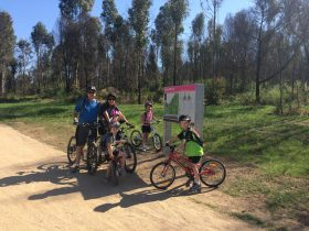 Image of family of MTB riders at Wylde MTB Trail