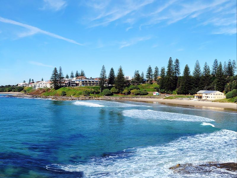 Choose accommodation overlooking beautiful Main Beach Yamba