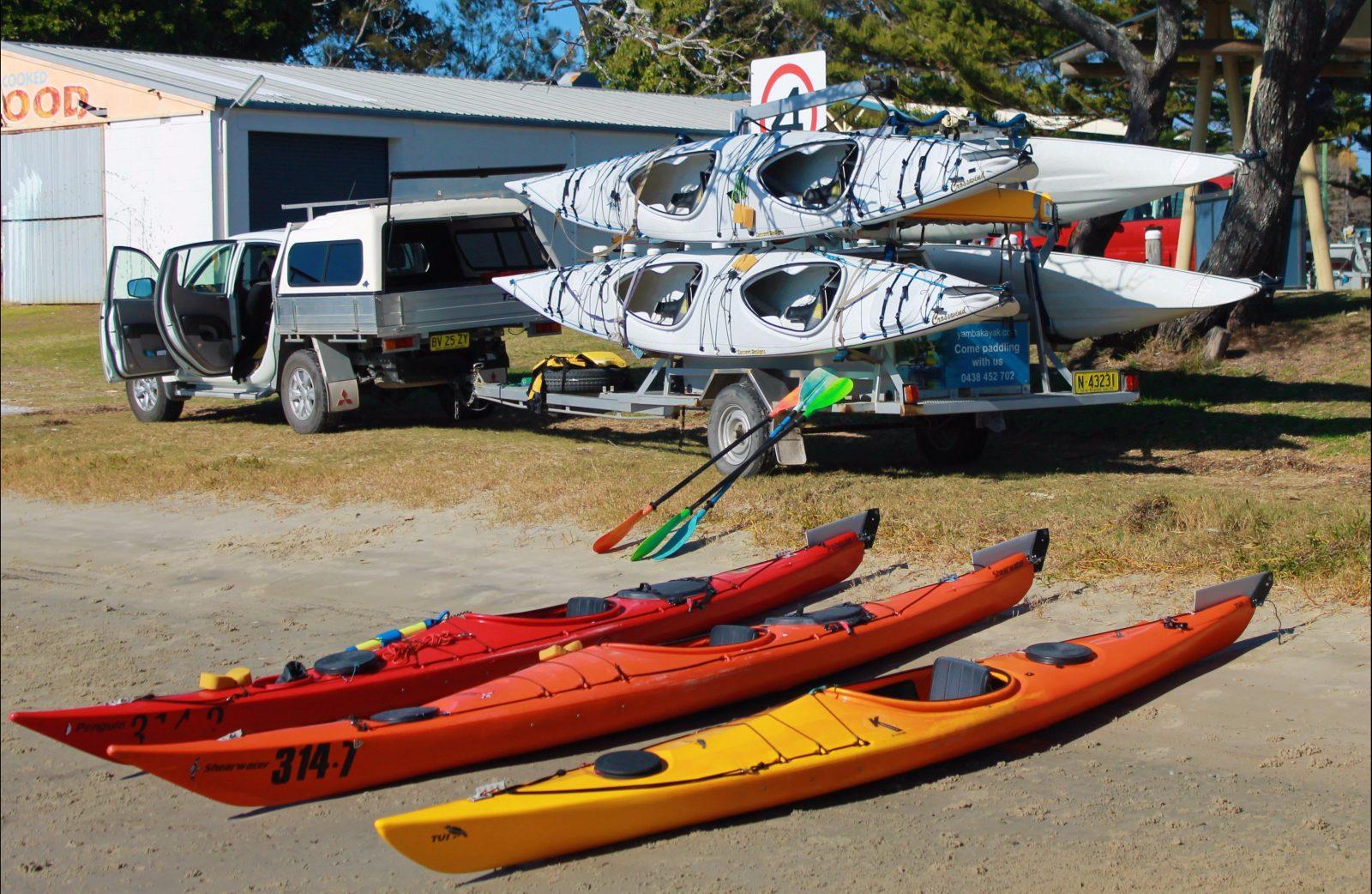 A large range of Sea Kayaks