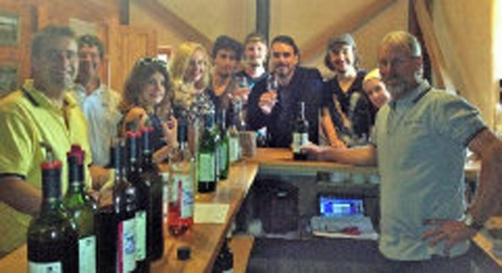 Wine tasting in the wine shop