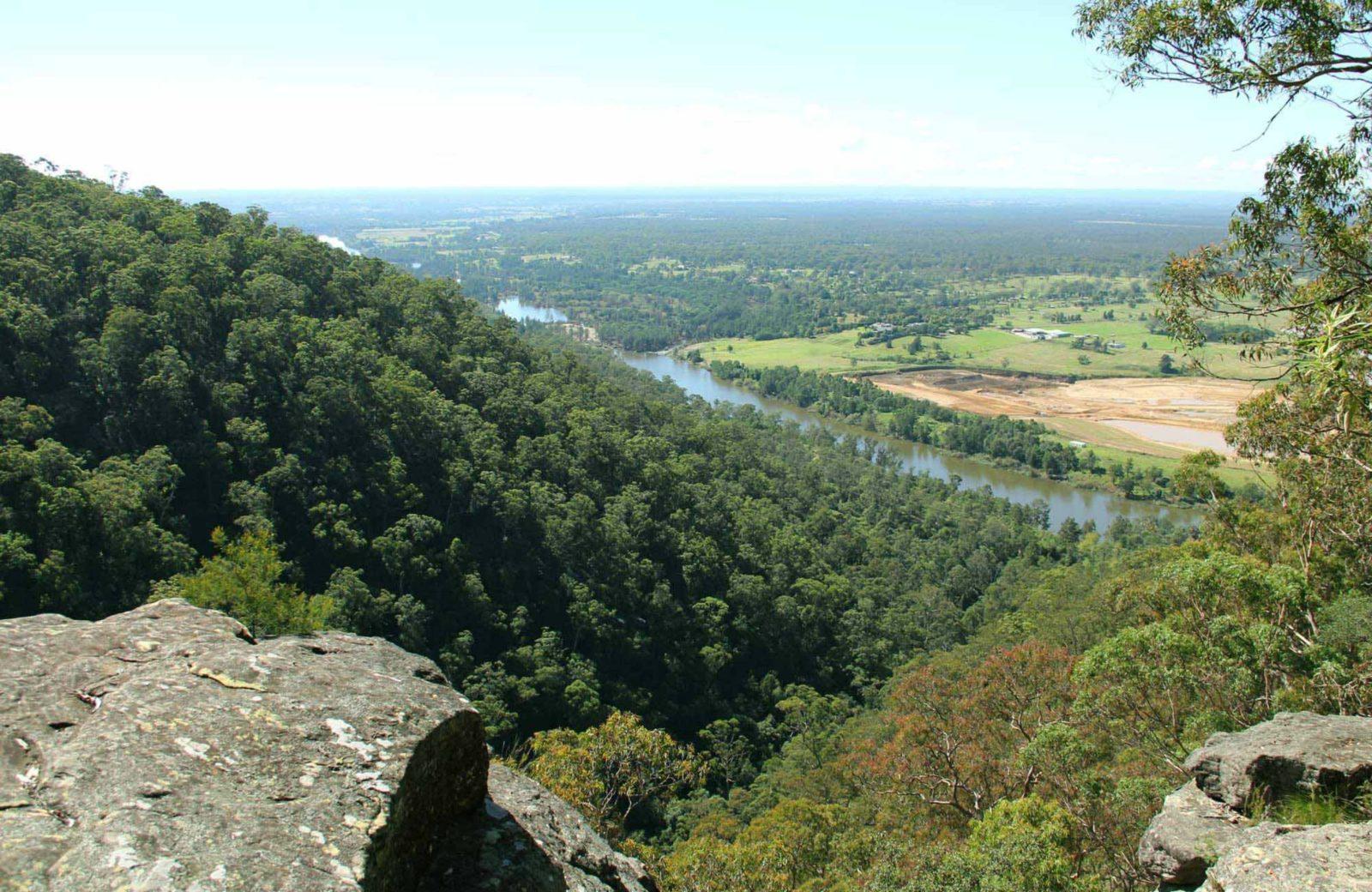 View from Yellow Rock lookout, Yellomundee Regional Park. Photo: John Yurasek