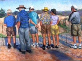 Viewing the 'Open Cut mine' Lightning Ridge