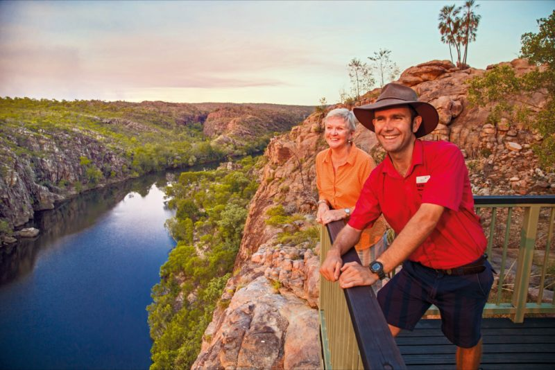 AAT Kings guide and guest at Katherine Gorge