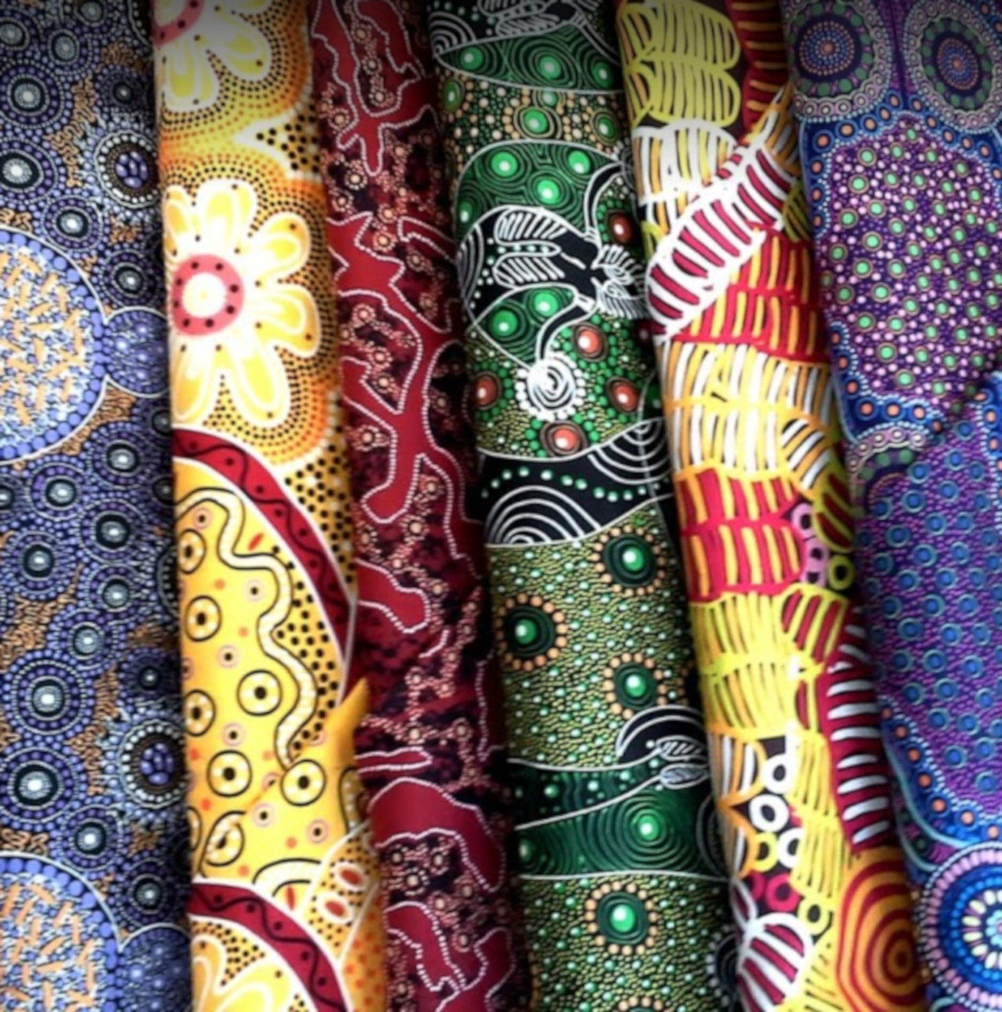Aboriginal Fabrics, textiles, fabrics, Aboriginal Art, Alice Springs, Fabric Shop