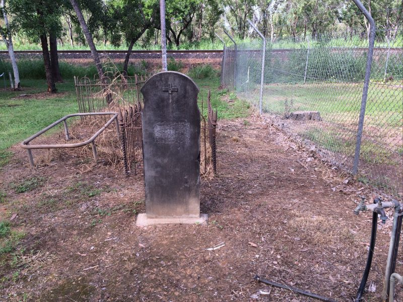 Photo of rudimentary graves at the cemetery.