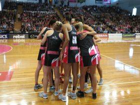 Adelaide Thunderbirds Team Huddle