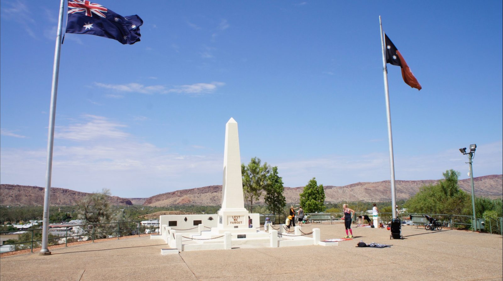 General view of Anzac Hill Memorial, a very popular look-out for visitors to Alice Springs.