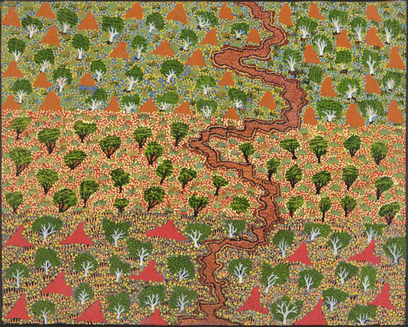 Anderina Kemarre Bonney, 'View of Country', acrylic on linen, 61x51cm