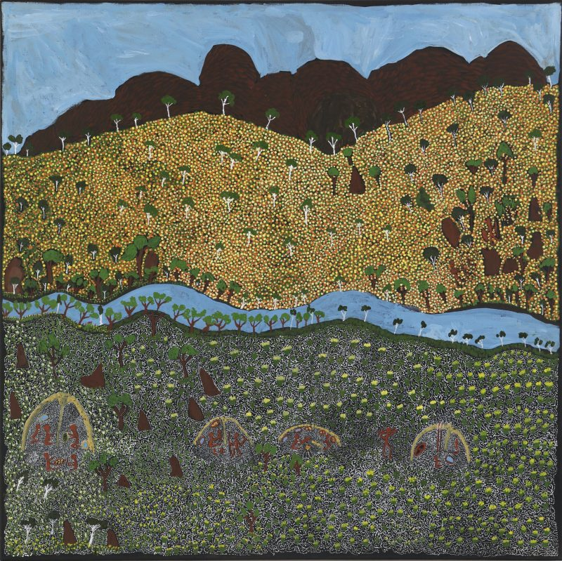 Barbara Ngwarraye Long, 'View of Country', acrylic on linen, 91x91cm