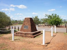 The memorial to John McDouall Stuart's 1860 expedition to traverse the continent south to north.