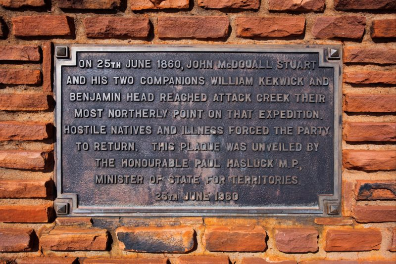 Dedication plaque, Attack Creek