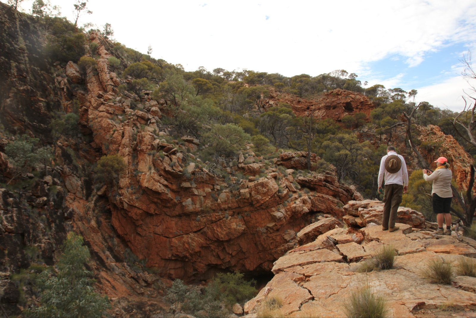 Rock formations on the Larapinta Trail