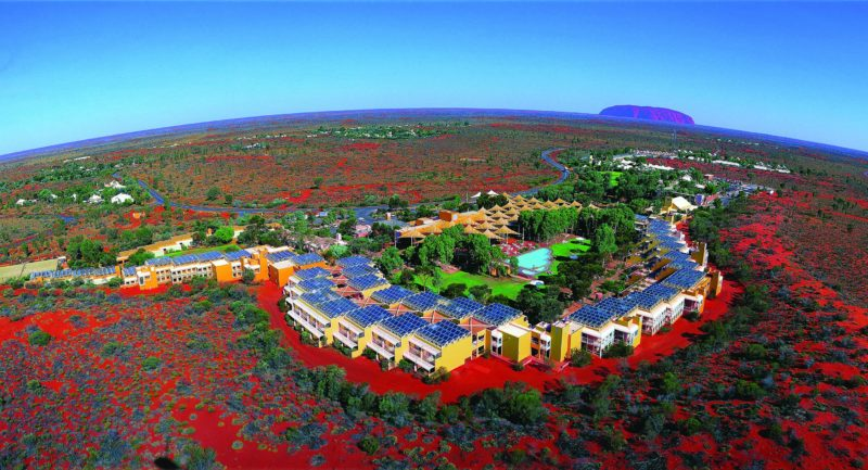Aerial shot of Ayers Rock Resort
