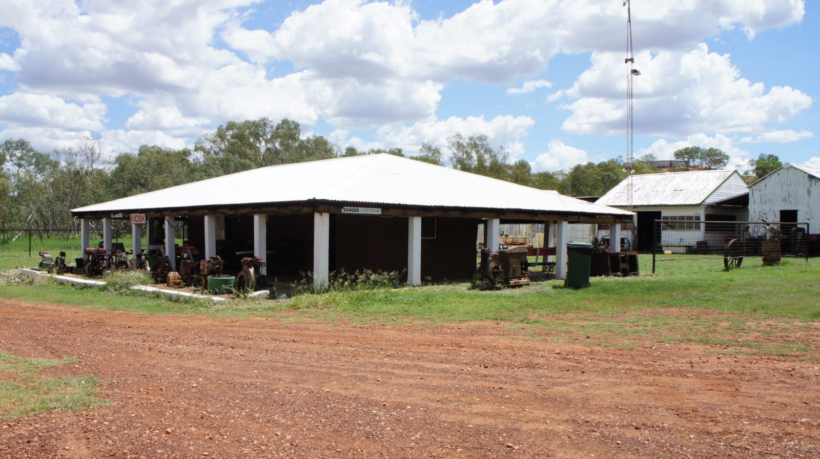 The mud hut building is used as a kiosk / bar for guests and visitors.
