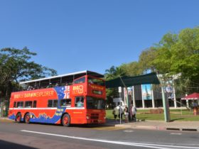 Big Bus Darwin at Tourist Information Centre, hop-on hop-off sightseeing