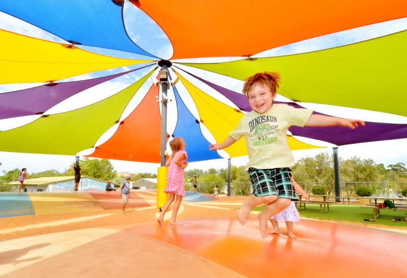 Take the kids to the jumping pillow and have a great time interacting with other guests