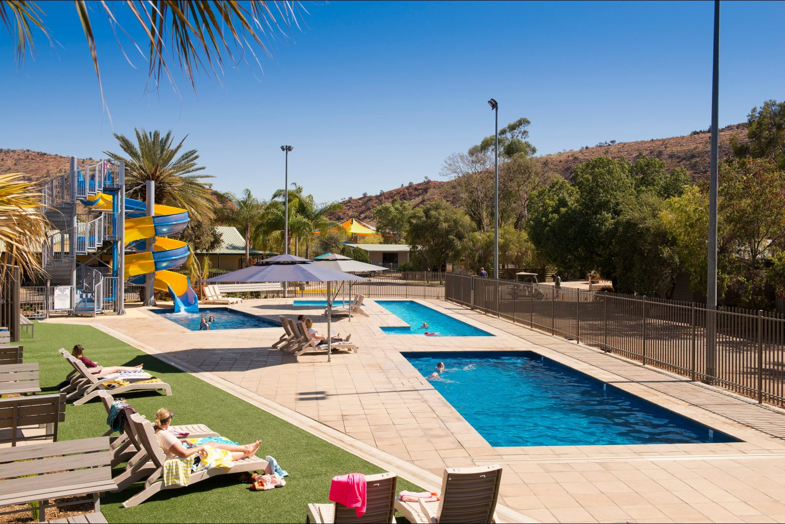 come and enjoy a dip in our heated pools at BIG4 MacDonnell Range Holiday Park