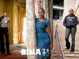 Tiwi models wearing Bima Wear clothing