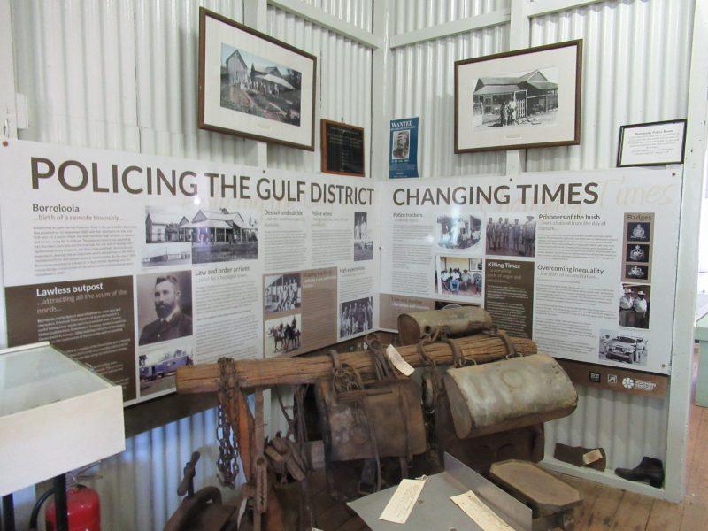 Old Borroloola Police Museum Display