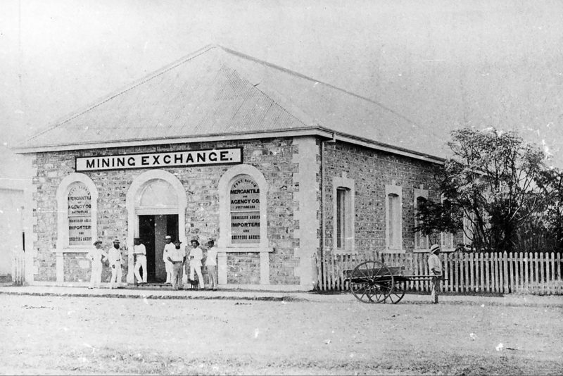 Brown's Mart, then the Port Darwin Mining Exchange circa 1887.