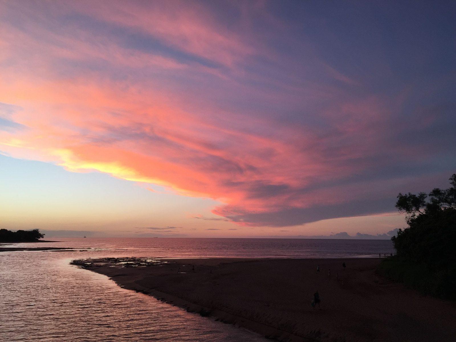 Casuarina coastal reserve beach sunset