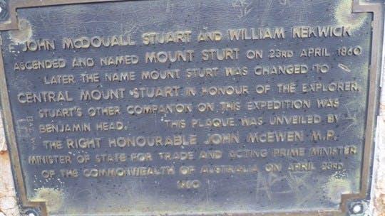 Central Mount Stuart Historical Reserve