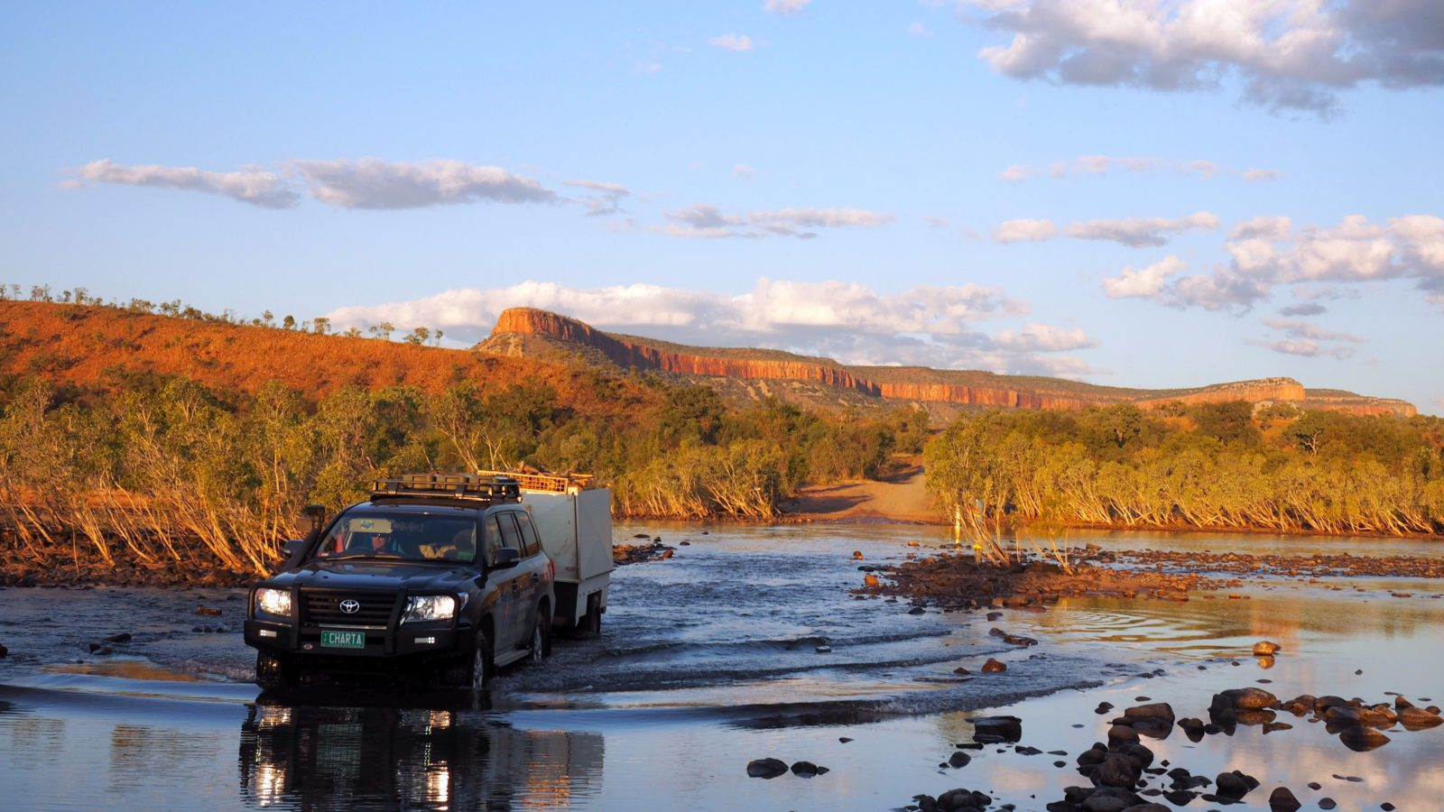 Charter North Vehicle at Pentecoast River Crossing- the Kimberley