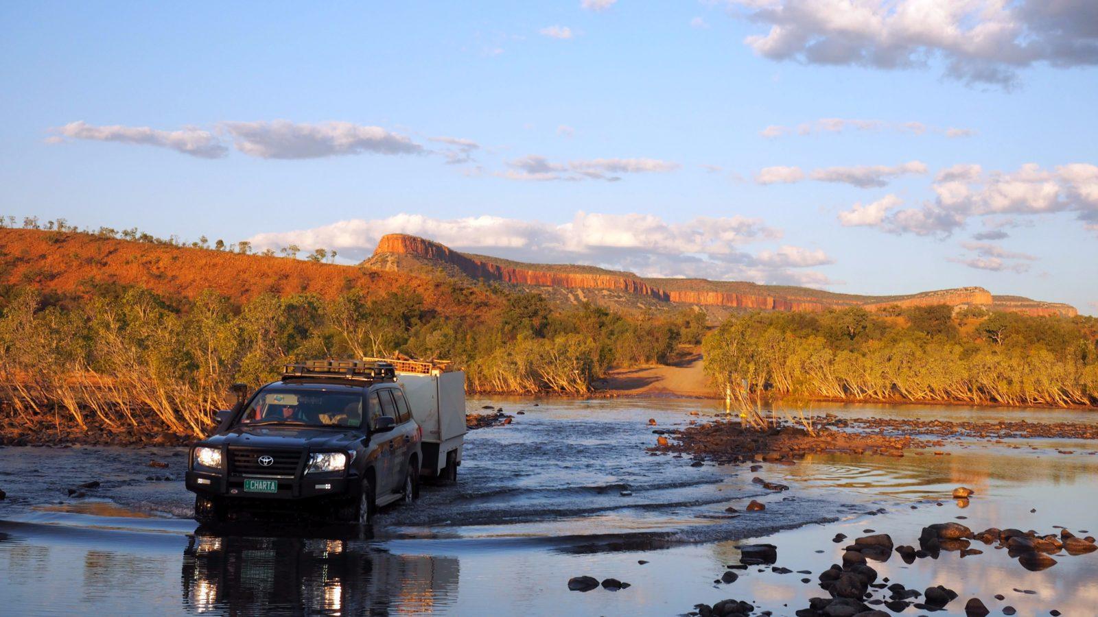 Charter North Vehicle at Pentecoast River Crossing- the Kimberley