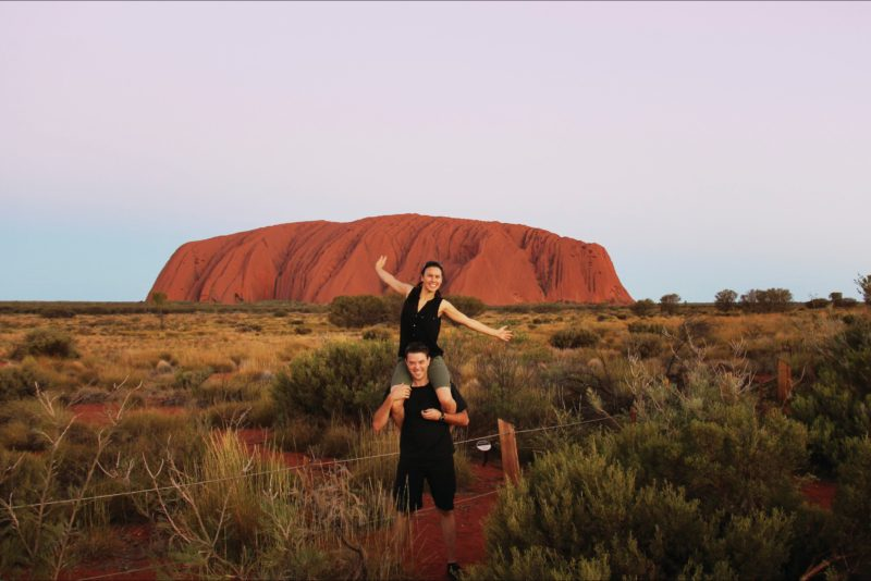 Happy Couple at Uluru