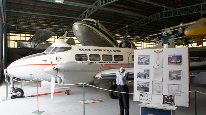 Interior of Connellan Hangar, used as an Aviation Museum.