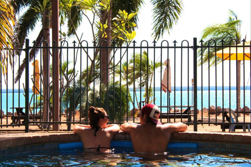 Relax and cool down in the refreshing salt water pools