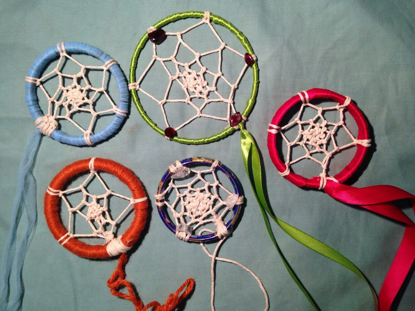 Examples of crystal Dreamcatchers